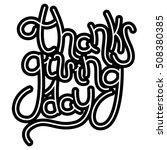 thanksgiving day hand drawn... | Shutterstock . vector #508380385