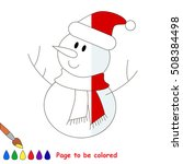 Funny Snowmen To Be Colored ...