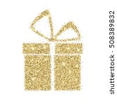 icon of gift box with gold... | Shutterstock .eps vector #508389832