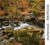 autumn at afon llugwy  betws y... | Shutterstock . vector #508392232