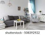 shot of a pastel living room... | Shutterstock . vector #508392922