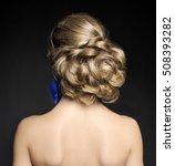 beautiful blonde bride's... | Shutterstock . vector #508393282