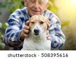 happy senior man cuddling his...   Shutterstock . vector #508395616