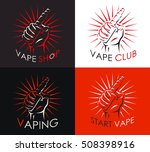 vaping logo set  badge  logo or ... | Shutterstock .eps vector #508398916