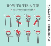 instructions on how to tie a... | Shutterstock .eps vector #508399642
