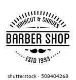 vintage barber shop logo and... | Shutterstock .eps vector #508404268