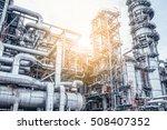 industrial zone the equipment... | Shutterstock . vector #508407352