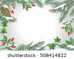 vector frame with sweetbrier ... | Shutterstock .eps vector #508414822