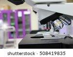 microscope in laboratory   Shutterstock . vector #508419835