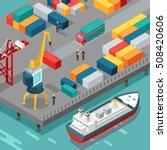 port warehouse. cargo... | Shutterstock .eps vector #508420606