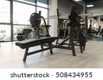 modern gym room fitness center... | Shutterstock . vector #508434955