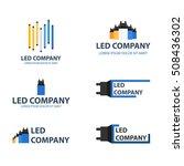 led bulb logo set. led company...   Shutterstock .eps vector #508436302