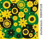 seamless texture of yellow... | Shutterstock .eps vector #508439128