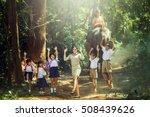 asia women teacher and children ... | Shutterstock . vector #508439626