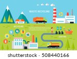 waste recycling infographic... | Shutterstock .eps vector #508440166