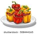 illustration of stuffed minced...   Shutterstock .eps vector #508444165