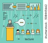 business lecture banner.... | Shutterstock .eps vector #508445662