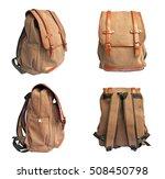 set of brown bag on white... | Shutterstock . vector #508450798