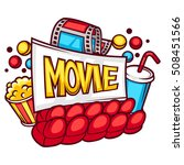 cinema and movie advertising... | Shutterstock .eps vector #508451566