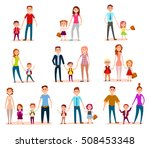 vector set family child... | Shutterstock .eps vector #508453348