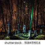 abandoned cemetery at night.... | Shutterstock . vector #508459816