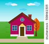 colorful cottage house | Shutterstock .eps vector #508461505