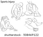 sports injuries. athlete holds... | Shutterstock .eps vector #508469122