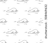 sleeping polar bear vector... | Shutterstock .eps vector #508469632