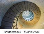 Golden Spiral In A Long Stair
