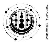 sacred geometry  crop circle ... | Shutterstock .eps vector #508470352