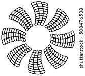 propeller like geometric... | Shutterstock .eps vector #508476538