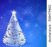 vector christmas card tree on a ... | Shutterstock .eps vector #508479802