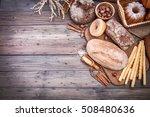 fresh crispy breads baking of... | Shutterstock . vector #508480636