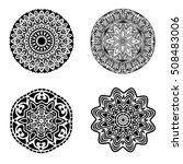 black ornament or mandala... | Shutterstock . vector #508483006