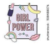 "vector poster ""girl power"" with ...   Shutterstock .eps vector #508488076"