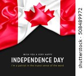 wish you a very happy canada... | Shutterstock . vector #508489972