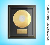 Gold Cd Prize With Label 3d...