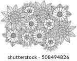 black and white flower pattern... | Shutterstock .eps vector #508494826