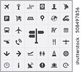 pointer icon. airport icons