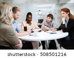 business people board meeting... | Shutterstock . vector #508501216