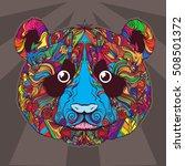 vector ornament of cartoon... | Shutterstock .eps vector #508501372