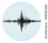 diagram of earthquakes on... | Shutterstock .eps vector #508502182