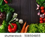 border of fresh organic... | Shutterstock . vector #508504855