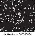 hand drawn doodle seamless... | Shutterstock .eps vector #508505836