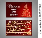 set of stylized christmas tree...   Shutterstock .eps vector #508507582