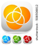overlapping circles icon  ... | Shutterstock .eps vector #508508812