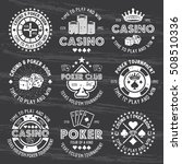 poker and casino set of vector... | Shutterstock .eps vector #508510336