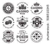poker and casino set of vector... | Shutterstock .eps vector #508510345