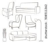 furniture sketch.vector... | Shutterstock .eps vector #508511362