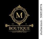 luxury logo template in vector...   Shutterstock .eps vector #508518976